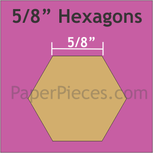 5/8 Inch Hexagons Small Pack