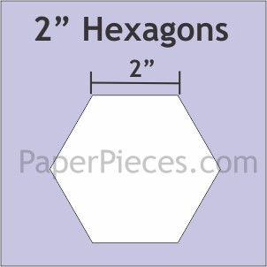 2 Inch Hexagons Small Pack