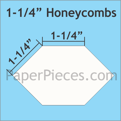 N- Paper Pieces 1-1/4 Honeycombs (50 Pieces)
