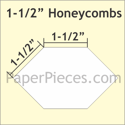 N- Paper Pieces Honeycomb 1 1/2 Large Pack (150 Pieces)