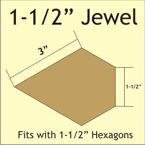 N- Paper Pieces Jewel 1 1/2 (44 pieces)