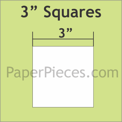 3 Inch Squares No Seam