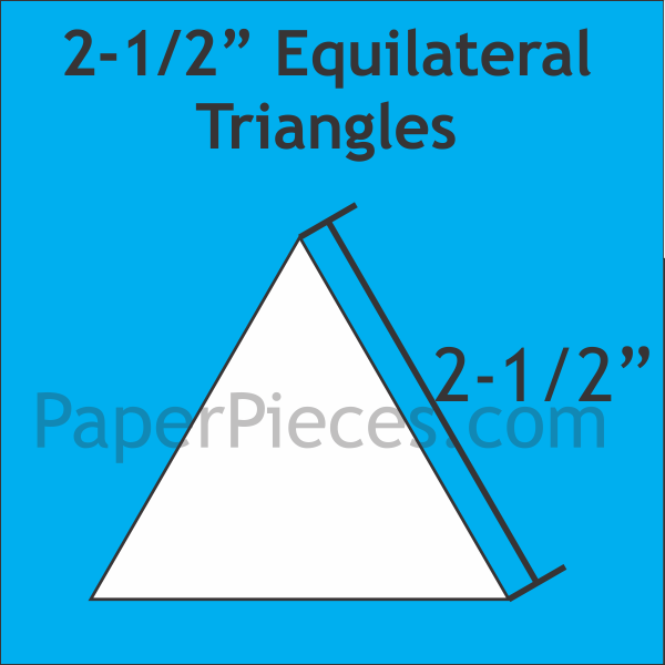 Triangle Paper Pieces 2.5'' (252pcs)