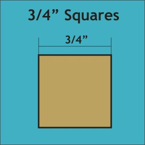 Square Paper Pieces 3/4'' (600 pcs)