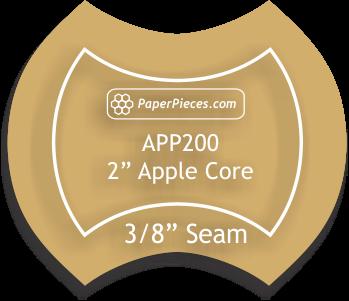 Acrylic Fabric Cutting Template: 2 Apple Core with 3/8 Seam Allowance