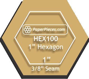 Acrylic Fabric Cutting Template: 1 Hexagon with 3/8 Seam Allowance