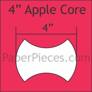 Apple Core Paper Pieces 4