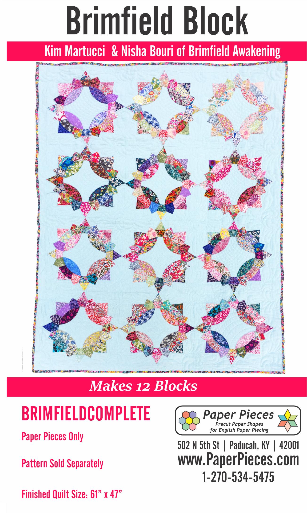 Brimfield Block Complete Piece Pack Makes 12 Blocks