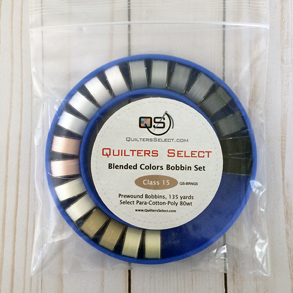 Quilters Select Class 15 Bobbin Ring: Contains 20 Black & White Bobbins