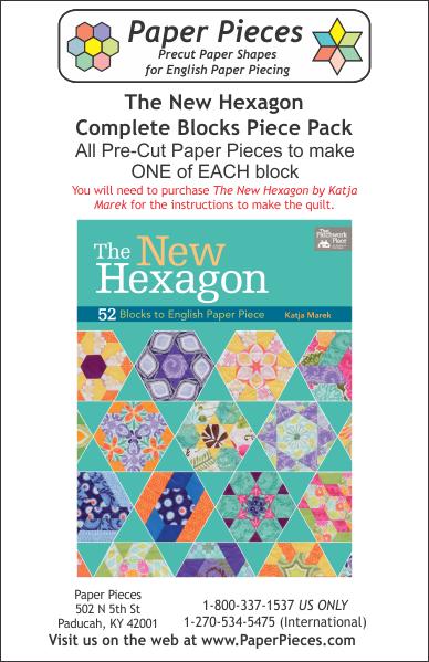 The New Hexagon Quilt by Katja Marek - Paper Pieced -Complete Piece Pack