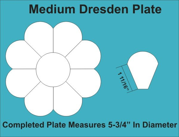 Paper Pieces Medium Dresden Plate: Small Pack 2 Plates