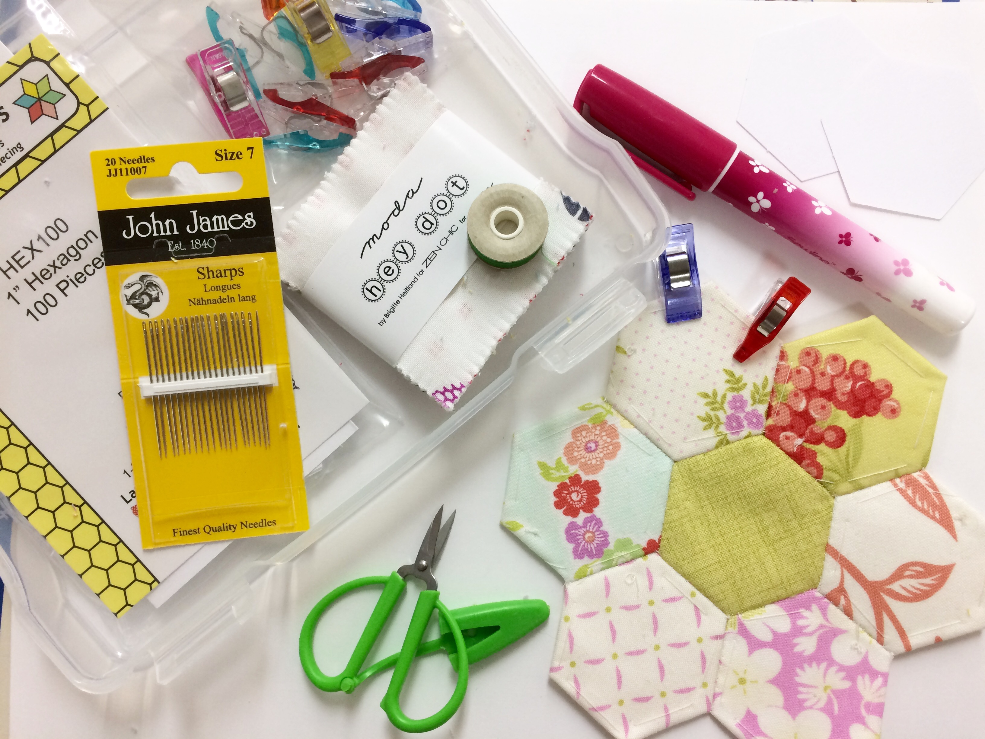 English Paper Piecing Starter Kit from Paper Pieces