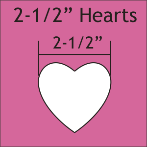 2-1/2 Hearts: Large Pack 150 Pieces