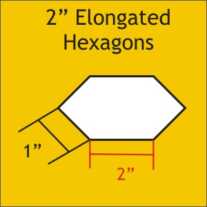 2 Elongated Hexagons: Bulk Pack 900 pieces