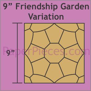 9 Friendship Garden Variation: Small Pack Makes 1 Block
