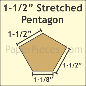 1-1/2 Pentagon: Small Pack 50 Pieces