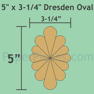 Paper Pieces 5 x 3-1/4 Dresden Oval: Small Pack9 Plates