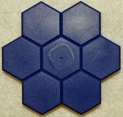 PinPal Navy Blue Hexagon Flower Magnetic Needle Catcher