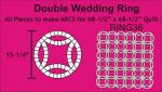 Double Wedding Ring: Bulk Pack 36 Rings