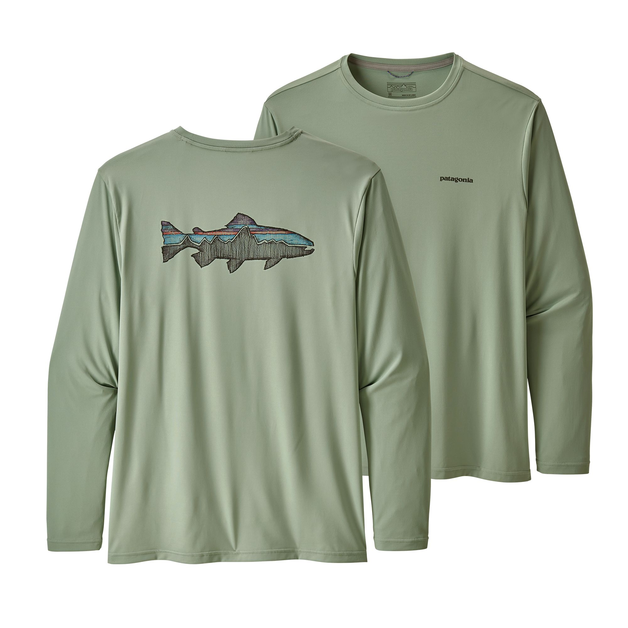 Patagonia M'S L/S Cap Cool Daily Fish Trout