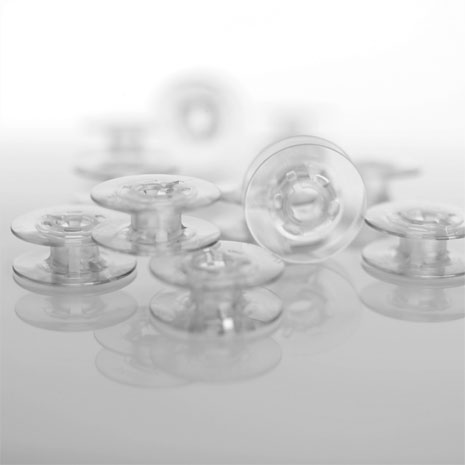 Plastic Bobbins,10-pack Grey
