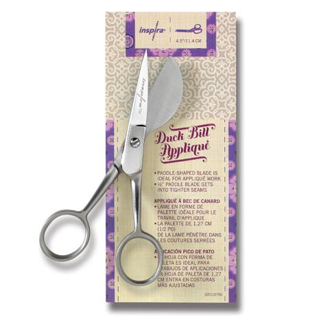 INSPIRA 4.5 Inch Duck Bill Applique Scissor