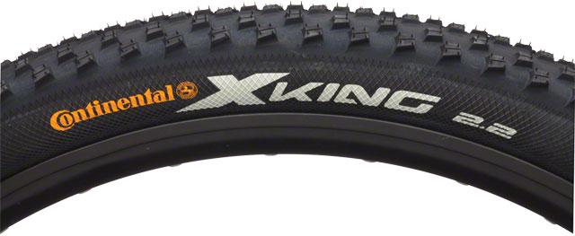 Continental X-King Tire 27.5x2.2 ProTection Folding Bead with Black Chili Rubber