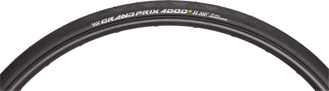 Continental Grand Prix 4000 S II Tire 700x25 Black Folding Bead and Black Chili ...