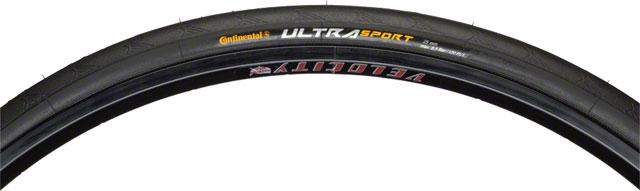 Continental Ultra Sport II Tire 700x23 Black Steel Bead