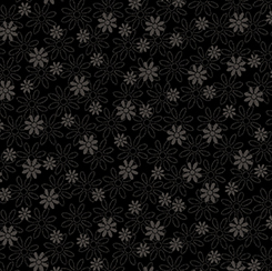 Quilting Illusions STENCIL FLORAL BLACK