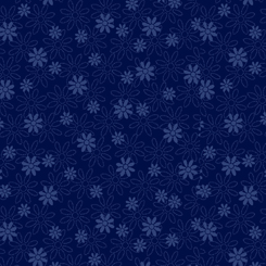 Illusions - Colours Stencil Floral - Navy