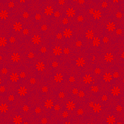 Illusions Colours STENCIL FLORAL RED