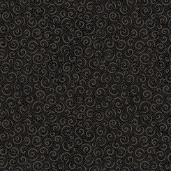 QUILTING ILLUSIONS CURLY CUE Black 21517-J