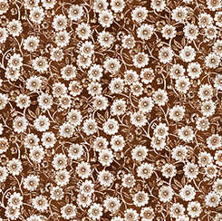 DAILY GRIND FLORAL BROWN 21677A Quilting Treasures QT