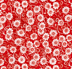 DAILY GRIND FLORAL RED 21677R Quilting Treasures QT