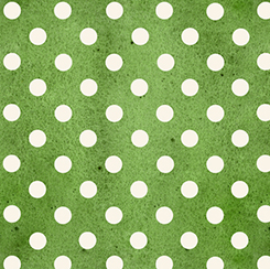 Daily Grind-green with white dots