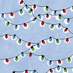 CHRISTMAS TIME LIGHTS BLUE