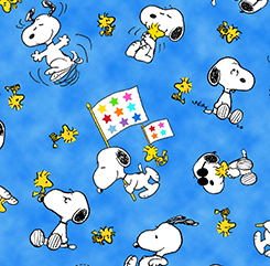 PROJECT LINUS SNOOPY AND WOODSTOCK TOSS