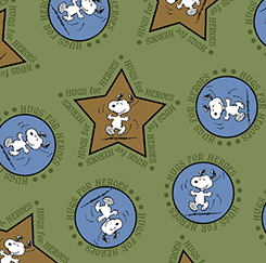HUGS FOR HEROES SNOOPY/STARS & CIRCLES
