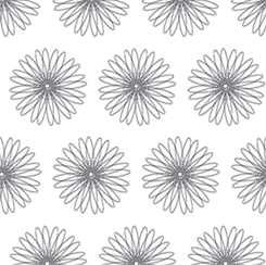 22918ZK  MOONFLOWER SPIRAL FLORAL FOR QUILTING TREASURES