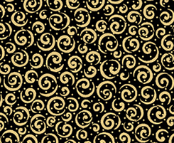 Metals SCROLL BLACK/GOLD
