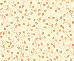 Metals Cream w/Copper leaves