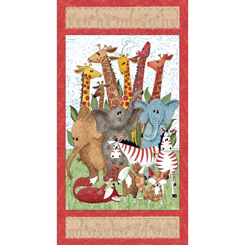 QT - WILD THINGS ANIMAL PANEL - 23618-X  (J-13)