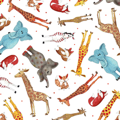 WILD THINGS TOSSED ANIMALS-White background (FA-23619-Z)