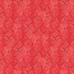 WILD THINGS GEOMETRIC FLOWER RED (FA-23622-R)