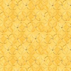 WILD THINGS GEOMETRIC FLOWER Yellow (FA-23622-S)