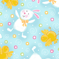 A JOYFUL EASTER BUNNIES & CHICKS 23717 B
