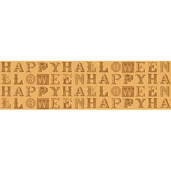 Sew Scary HAPPY HALLOWEEN LETTERS LT PUMPKIN