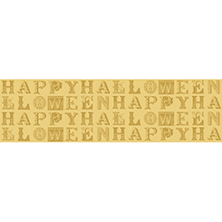 Sew Scary HAPPY HALLOWEEN LETTERS GOLD