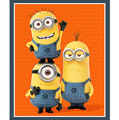 1 IN A MINION MINION TRIO PANEL ORANGE